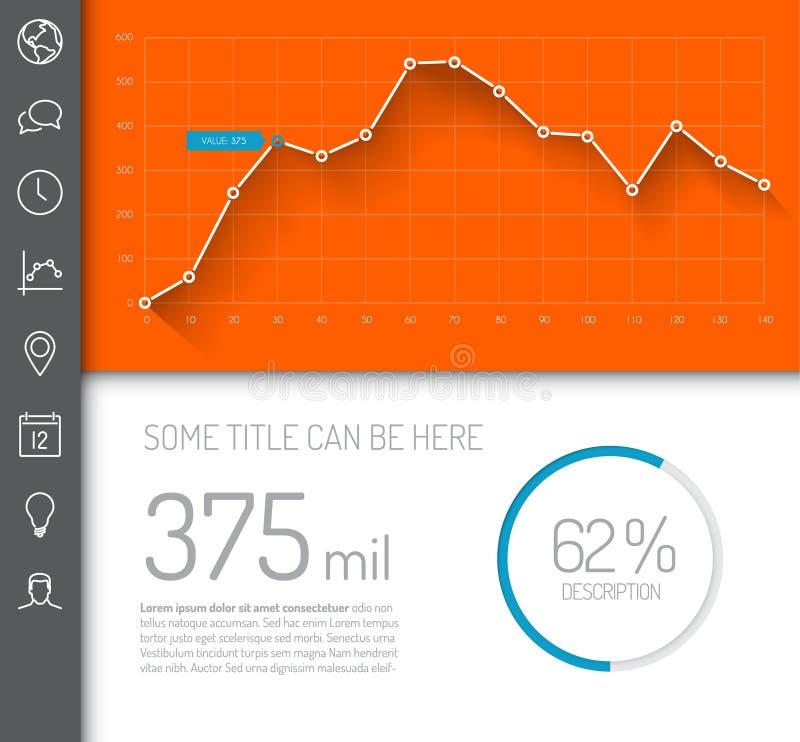 Calibre infographic simple de tableau de bord illustration stock