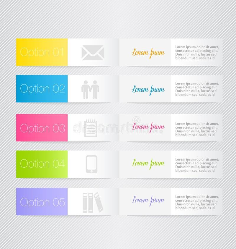 Calibre inforgraphic moderne Peut être employé pour des bannières, calibres de site Web et les conceptions, affiches infographic, illustration stock