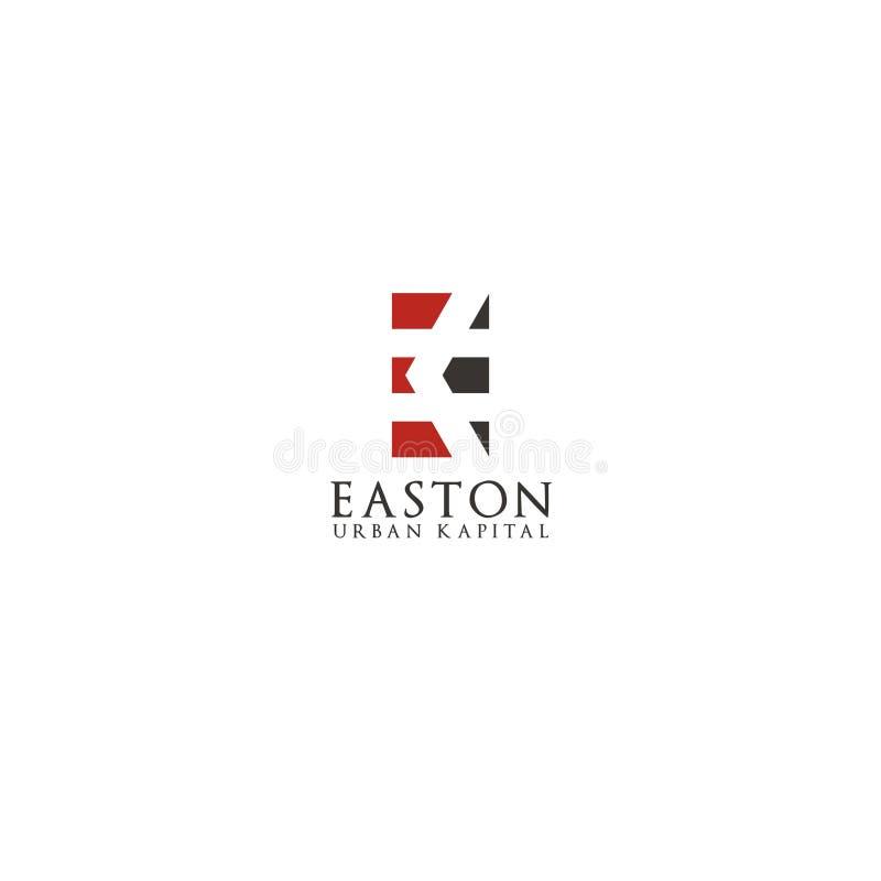 Calibre initial de conception de logo d'EK illustration de vecteur