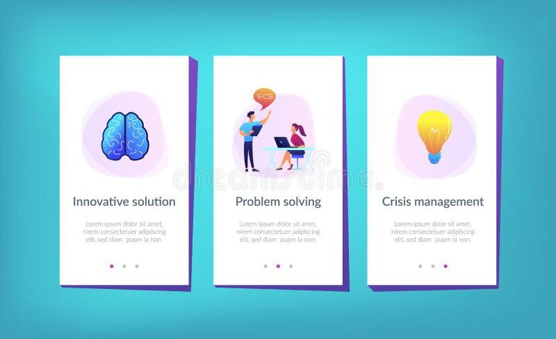 Calibre innovateur d'interface d'appli de solution illustration stock