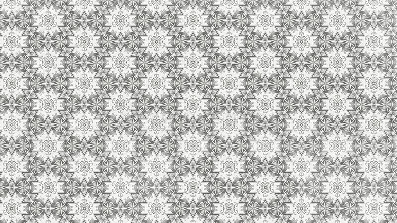 Calibre léger de Grey Floral Geometric Pattern Background illustration de vecteur