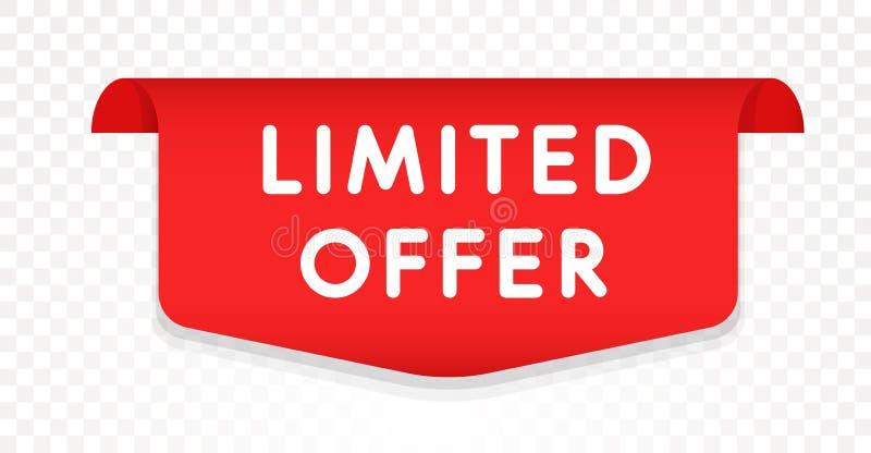 Calibre limité d'icône d'offre/Web de remise/vente Conception d'étiquette de vente pour des affaires Élément de label de produit  illustration de vecteur