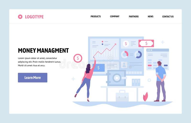 Calibre linéaire de conception d'art de site Web de vecteur Diagrammes et diagrammes de finances Concepts de gestion de fortunes  illustration libre de droits