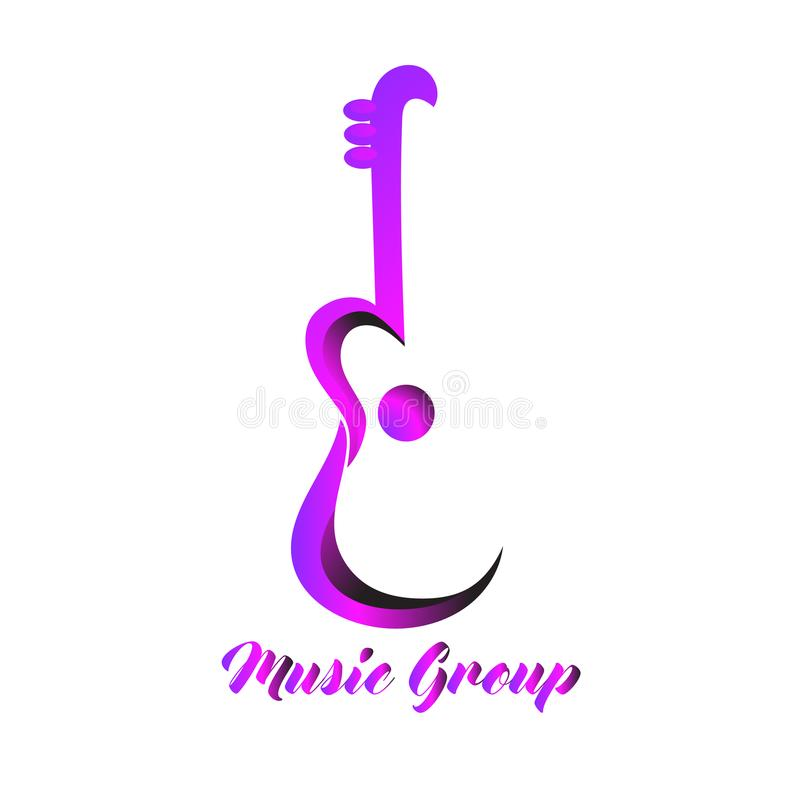 Calibre Logo Design For Music Group illustration stock
