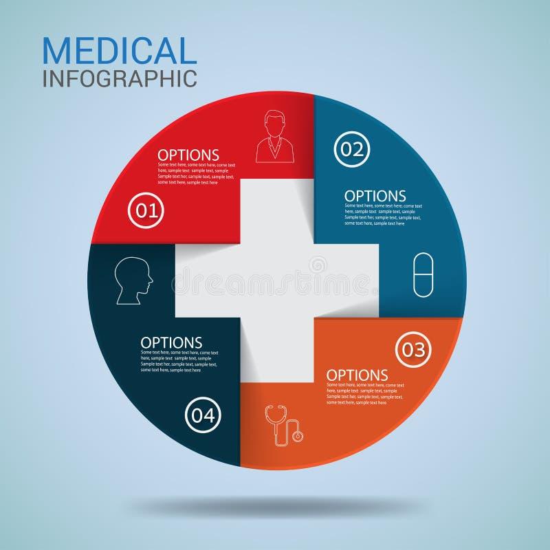 Calibre médical de tête de conception d'Infographic Vecteur illustration libre de droits