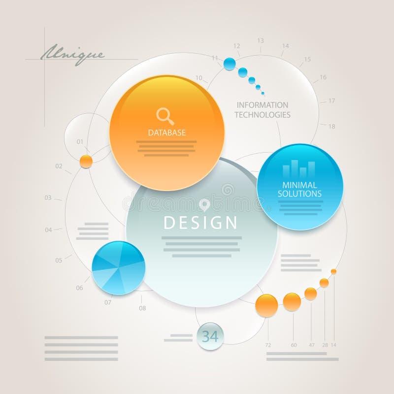 Calibre abstrait de conception de l'information de vecteur illustration stock