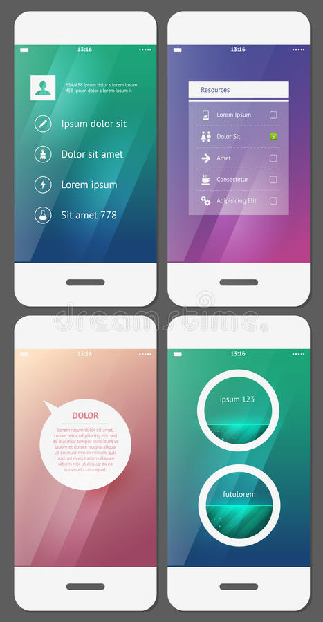 Calibre mobile d'interface utilisateurs illustration libre de droits