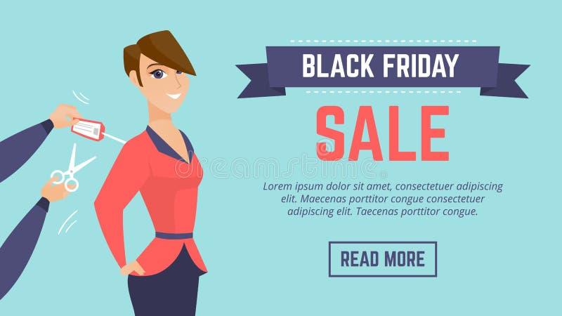Calibre moderne d'affiche de vente de Black Friday illustration libre de droits