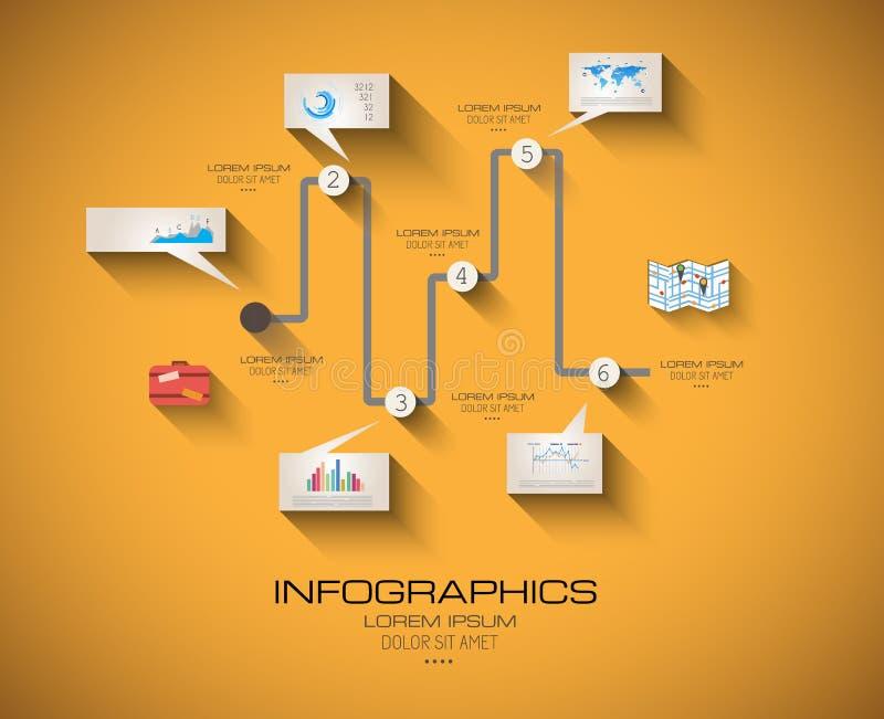 Calibre moderne d'Infographic avec le style plat d'UI illustration de vecteur