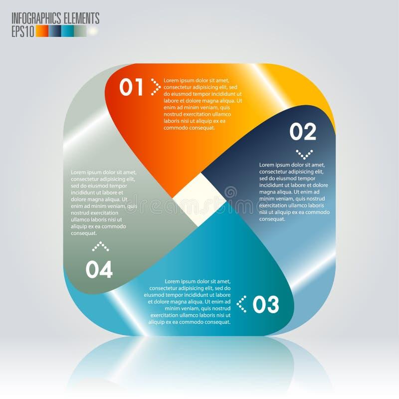 Calibre moderne d'infographics illustration stock