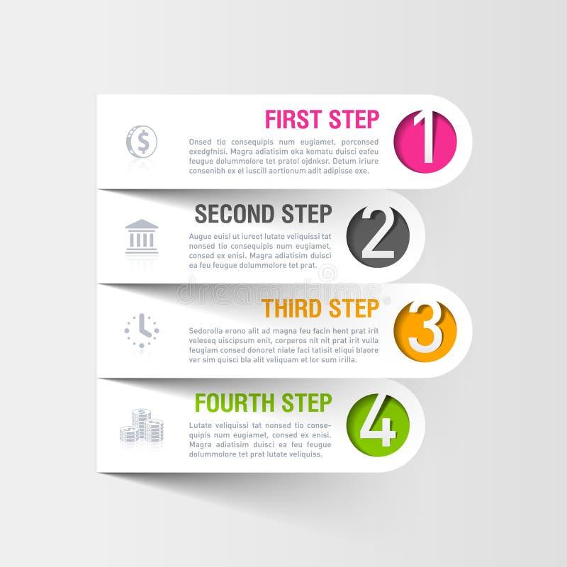 Calibre moderne d'infographics d'affaires illustration de vecteur