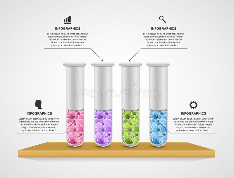 Calibre moderne d'infographics La Science et médecine illustration stock