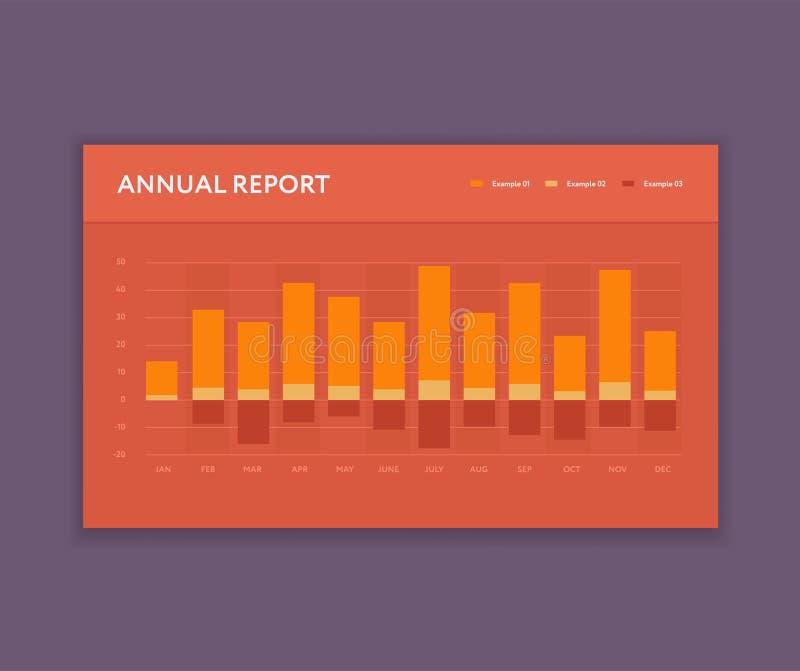 Calibre moderne de barre analogique Affaires Infographic Style plat de couleur Élément du tableau de bord UI illustration stock