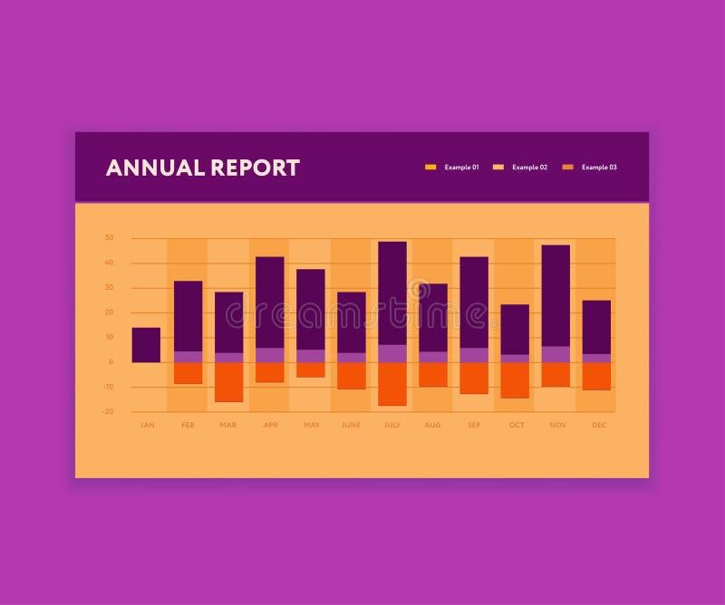 Calibre moderne de barre analogique Affaires Infographic Style plat de couleur Élément du tableau de bord UI illustration libre de droits