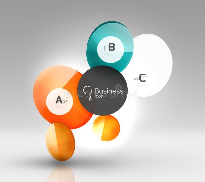Calibre moderne de conception d'Infographics d'affaires de cercle illustration stock