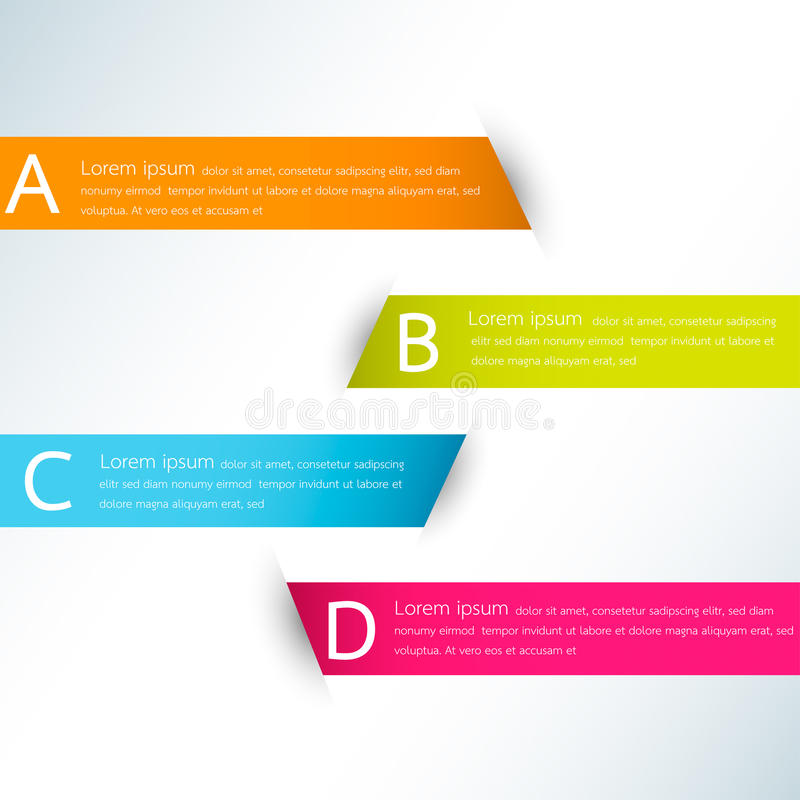 Calibre moderne de conception d'infographics de couleur d'affaires illustration stock