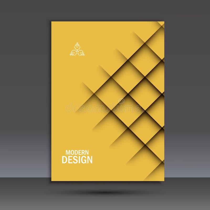 Calibre moderne de conception de brochure de vecteur avec la ligne abstraite illustration stock