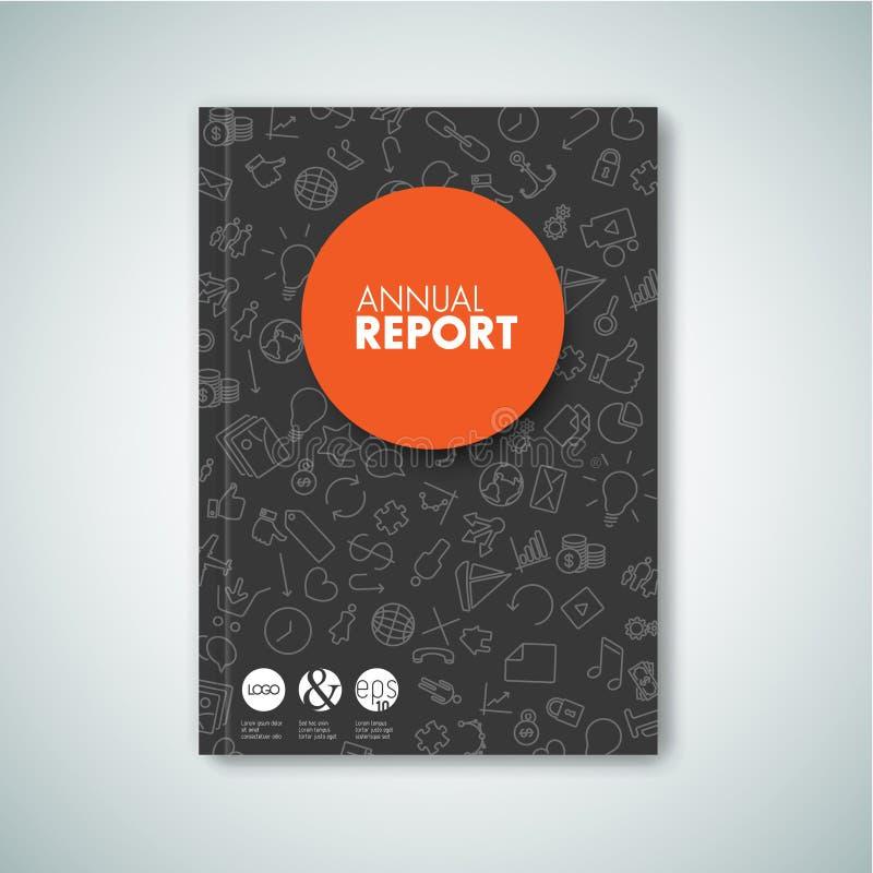 Calibre moderne de conception de brochure/livre/insecte de Vecto illustration de vecteur