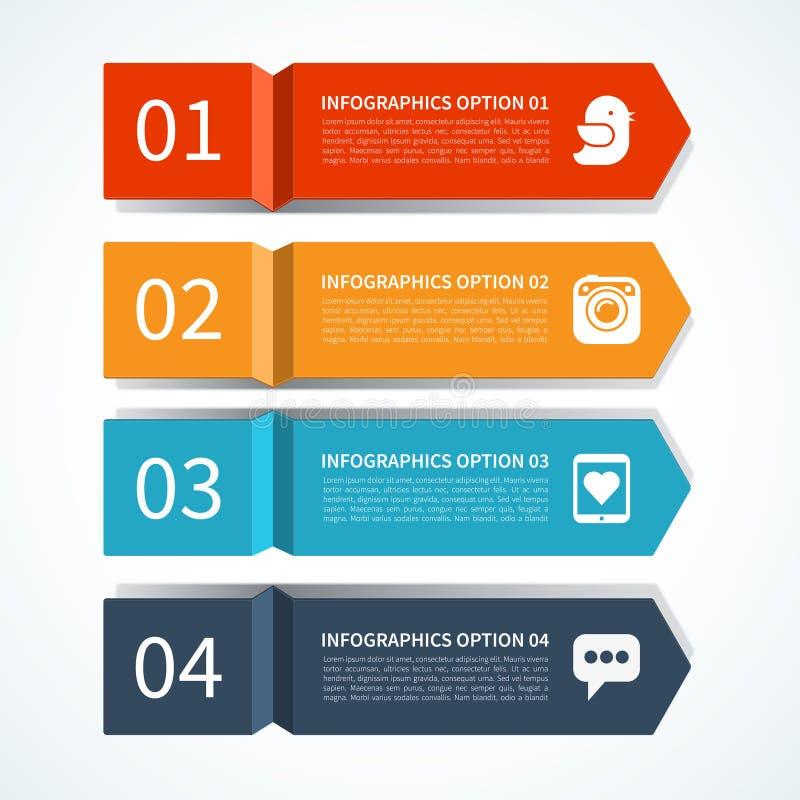 Calibre moderne de conception de flèche pour l'infographics illustration stock