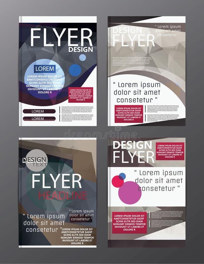Calibre moderne de conception de disposition de brochure de polygone Cov de tract d'insecte illustration de vecteur