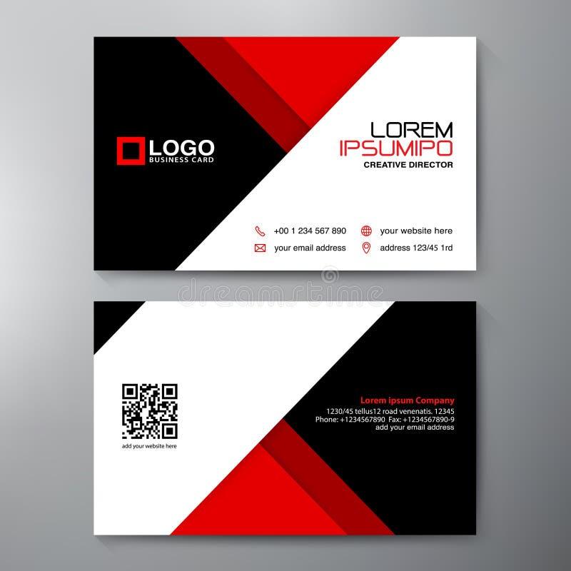 Calibre moderne de design de carte d'affaires illustration stock