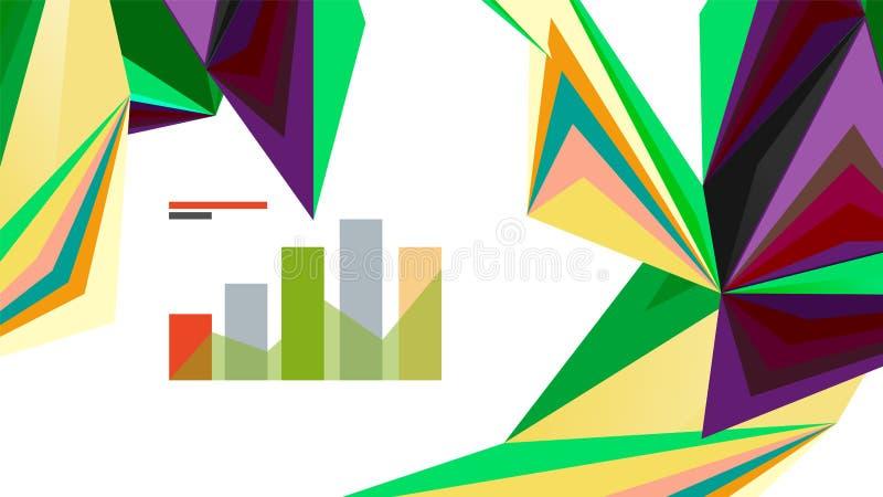 Calibre moderne de présentation de triangle illustration stock