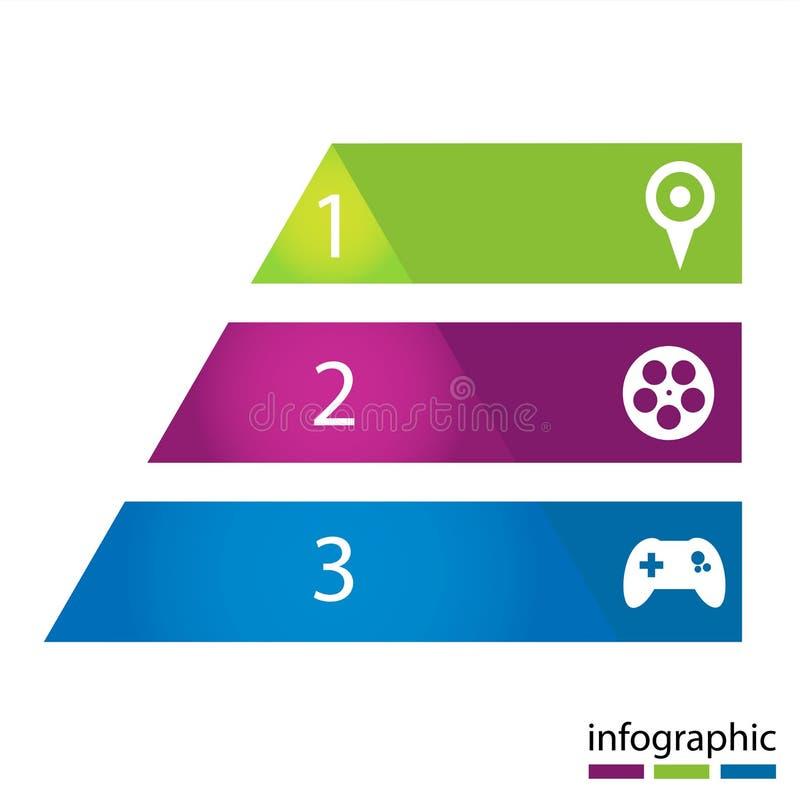Calibre moderne de vecteur infographic illustration libre de droits