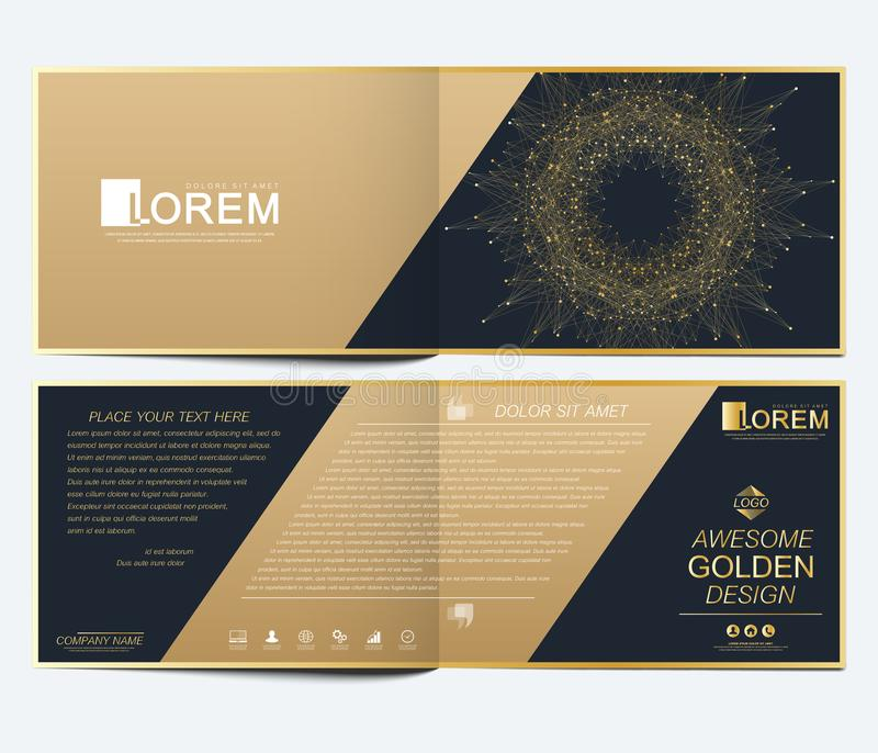 Calibre moderne de vecteur pour la brochure horizontale, le tract, l'insecte, la couverture, le catalogue, la magazine ou le rapp illustration de vecteur