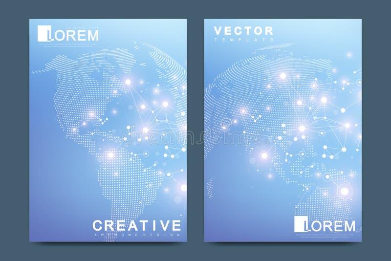Calibre moderne de vecteur pour le tract de brochure, la magazine de catalogue de couverture d'annonce d'insecte ou le rapport an illustration libre de droits