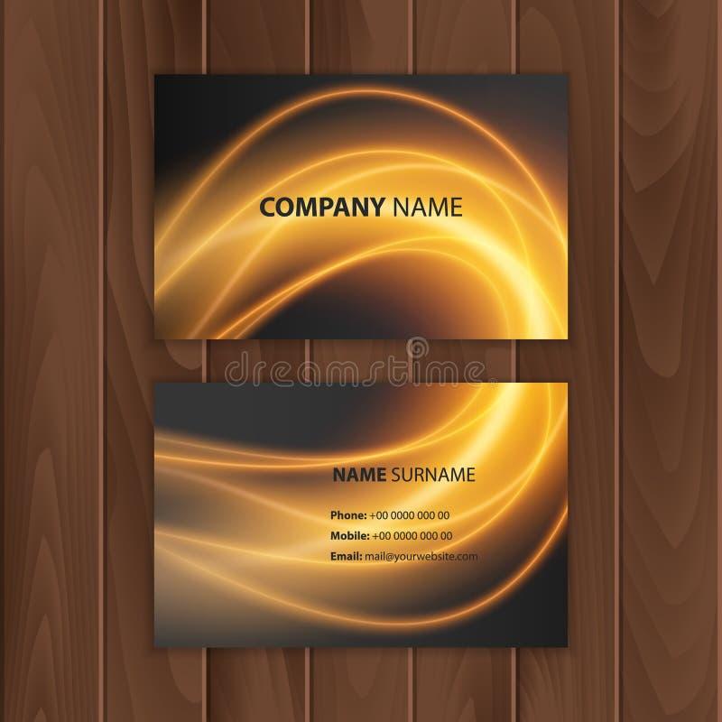 Calibre moderne foncé de design de carte d'affaires illustration libre de droits