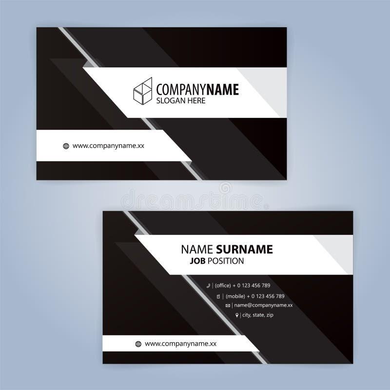Calibre Moderne Noir Et Blanc De Carte Visite Professionnelle Vecteur 10 Dillustration