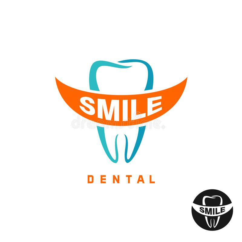 Calibre molaire de logo de dent illustration stock