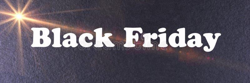Calibre noir abstrait de bannière de Black Friday photo libre de droits