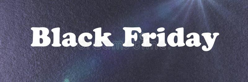 Calibre noir abstrait de bannière de Black Friday images stock