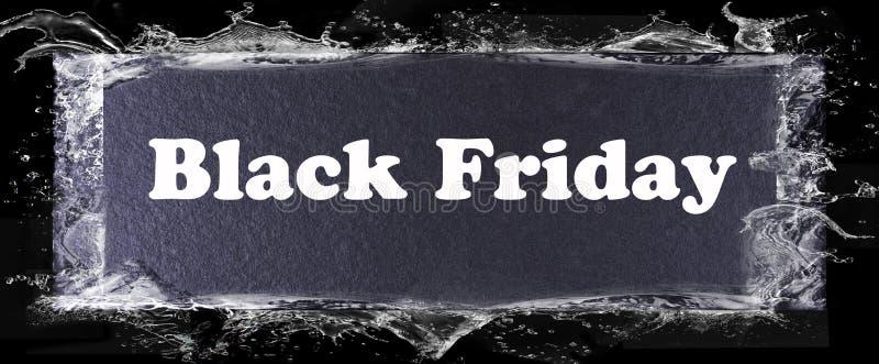 Calibre noir abstrait de bannière de Black Friday image stock
