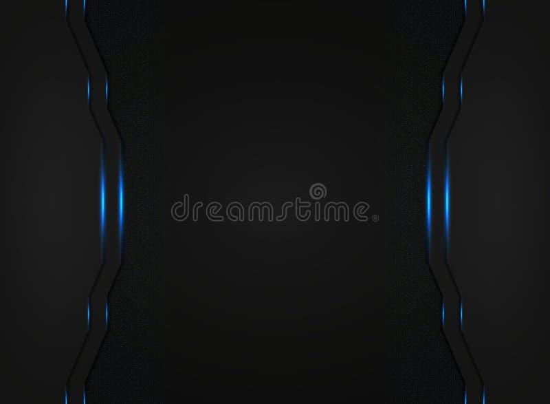 Calibre noir abstrait de technologie avec le fond clair bleu de scintillements Vecteur eps10 d'illustration illustration stock