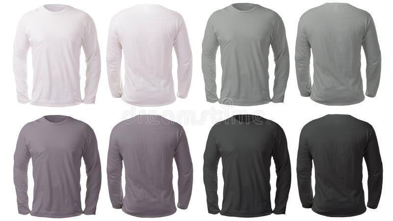Calibre noir blanc de Gray Long Sleeved Shirt Design photos libres de droits