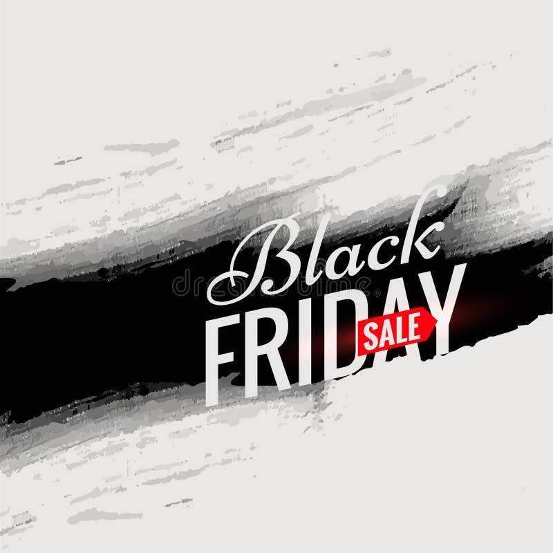 Calibre noir d'affiche de vente de vendredi avec à l'encre noire dans le style grunge illustration libre de droits