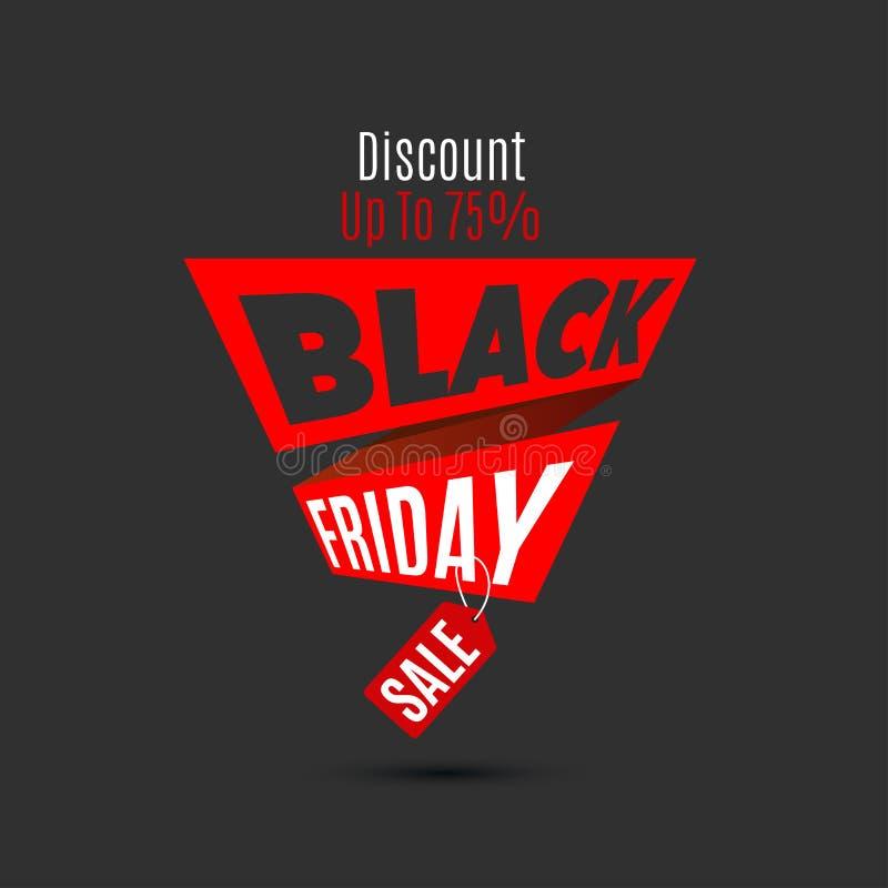 Calibre noir de conception de vente de vendredi Drapeau créateur Illus de vecteur illustration stock
