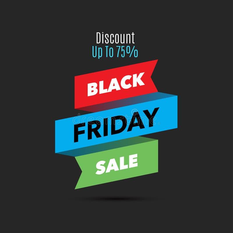 Calibre noir de conception de vente de vendredi Drapeau créateur Illus de vecteur illustration libre de droits