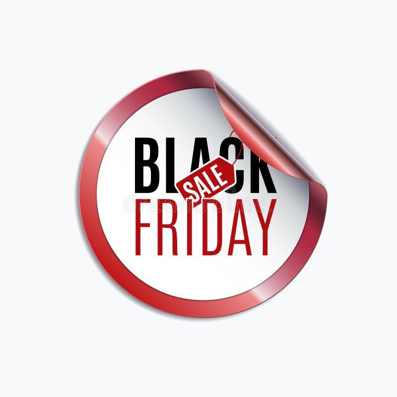Calibre noir de conception de vente de vendredi Drapeau créateur Illus de vecteur illustration de vecteur