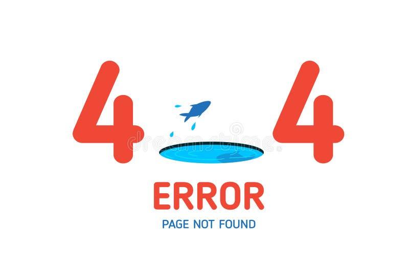 calibre non trouvé de conception de page de 404 erreurs pour le site Web illustration stock