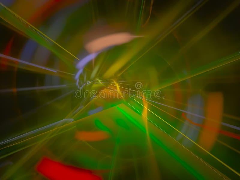 calibre numérique de carte de rayon de disco de lueur de conception de fusée de fractale beau, disco, abrégé sur partie de couver image stock