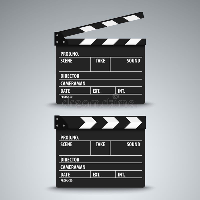 Calibre ouvert et fermé d'aileron de film illustration libre de droits