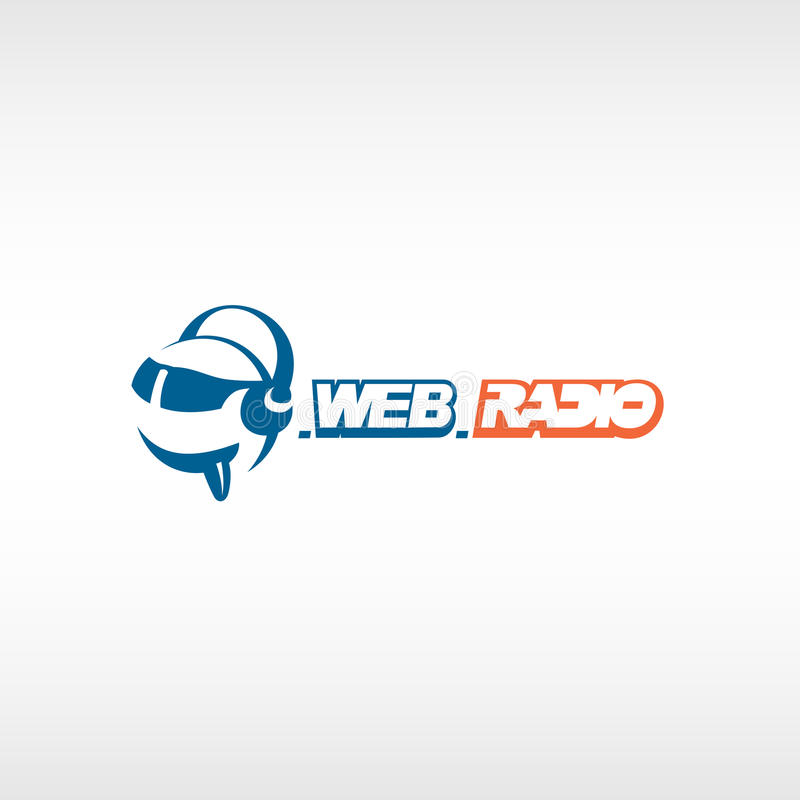 Calibre par radio de logo d'Internet illustration stock
