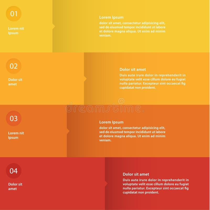 Calibre plat coloré de conception de vecteur. Quatre choix. illustration stock