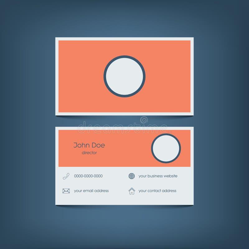 Calibre plat moderne de carte de visite professionnelle de visite de conception dessin illustration stock