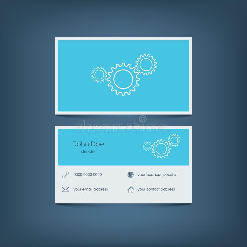 Calibre plat moderne de carte de visite professionnelle de visite de conception dessin illustration libre de droits