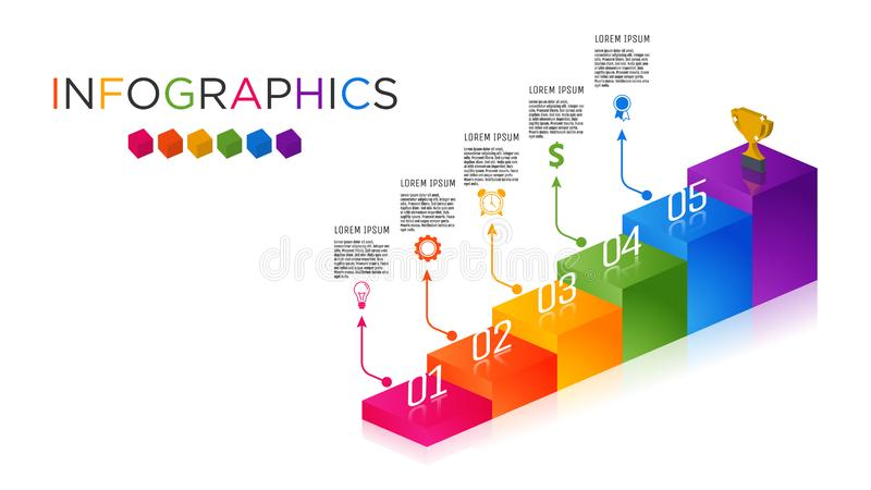 Calibre polychrome d'Infographic de label d'affaires photographie stock