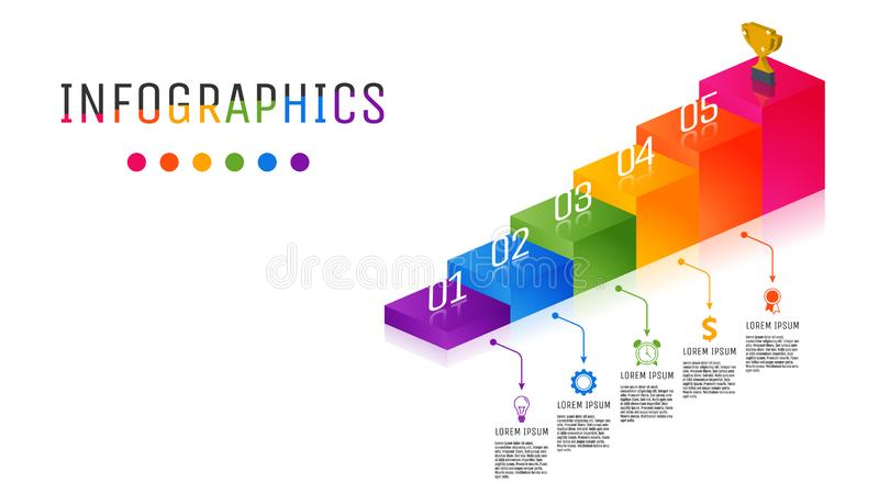 Calibre polychrome d'Infographic de label d'affaires images stock